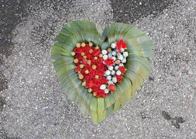Coeur vert rouge