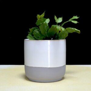 cache-pot en ceramique bi color